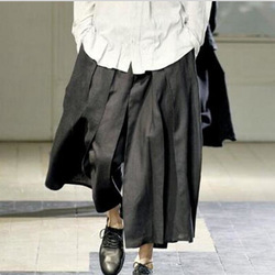 Paris Non-mainstream Personality Loose Discount Wide Skirt Trousers Show Performance Pants Design Influx of People Men Clothes