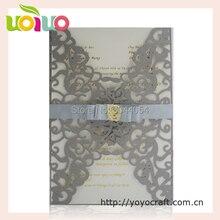 Fashion Style Chinese Wedding Invitation Card Pocket With Cheap Price Custom Bengali Royal