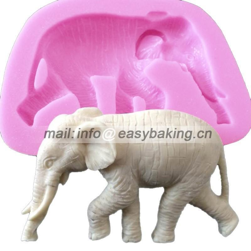Kartun 3D Animal Elephant Silikon Acuan Cake Decorating Mold Untuk Chocolate Soap Candy Arts & Crafts