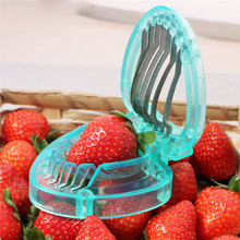 TTLIFE Strawberry Slicer Stainless Steel Kitchenware Plastic Fruit Carving Tools Strawberry Cake Decoration Cutter Salad Cutter