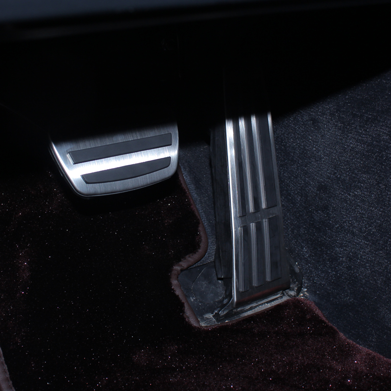 QHCP Aluminium Alloy Car Accelerator Gas Pedal No Drill Brake Non Slip Pedal Pads Cover Trim Protector For Lexus LS350 500H 2018