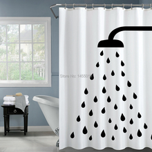 Happy Tree Polyester Classic Waterproof Shower Curtains Thicken Fabric Bathroom Curtain Water Drop Bath 180x180cm