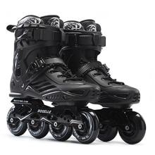 Inline Professional Adult Women Men Slalom  PP Ice Skating Skate Shoes SolidFrame Adjustable Washable  PU Wheels Adulto Patins
