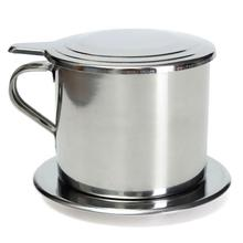 Coffee Drip Pot Rotary Filter Pot Drip Cup Stainless Steel Press Type Coffee Cup stainless steel vietnamese coffee pot drip coffee machine filter type brewing teapot no need paper filter coffee cup