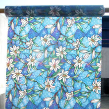 Colored Orchid Window Sticker Decorative Film Stained Glass Static Glue-free Privacy Frosted bedroom balcony Home Decor