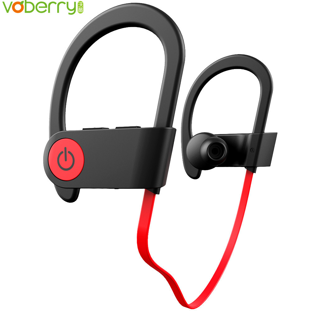 Bluetooth Headphones Wireless Sports Earphones Mic IPX7 Waterproof Headsets HD Stereo Sweatproof In Ear Earbuds For Gym Running 195hb wireless bluetooth mini headphones super bass headsets stereo sports over ear hifi earphones earbuds with mic for remax
