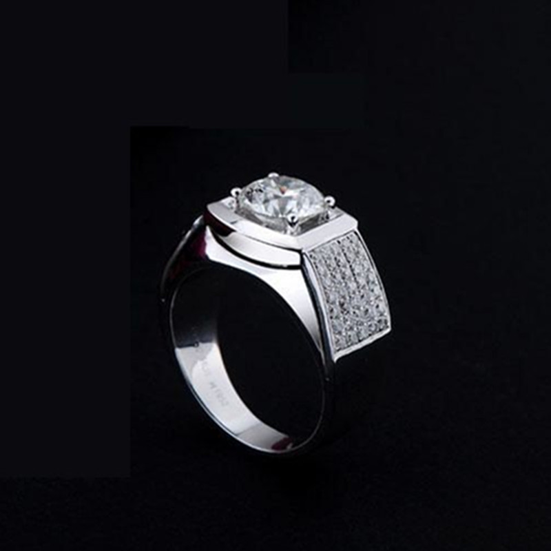 0 5ct Luxury Factory Direct Brand Synthetic Diamonds Ring For Men Wedding Band Engagement Sterling Silver Jewelry In Rings From