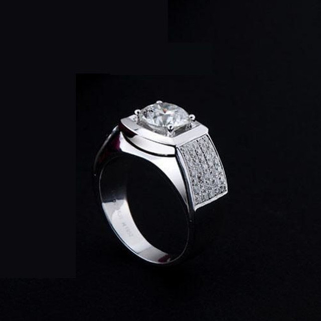 05ct Luxury Factory Direct Sale Brand Synthetic Diamonds Ring For Men Wedding Band Engagement