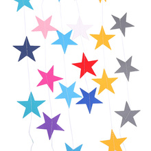 4M Paper Garland Star Shape String Banners Colorful Bunting Hanging DIY Birthday Wedding & Engagement Party Decoration