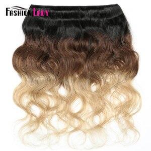 Image 3 - Ondulada de cabelo, moda, pré colorido, cabelo humano, ondulado, pacotes 1b/4/27 1/3/4 pacotes por pacote não remy