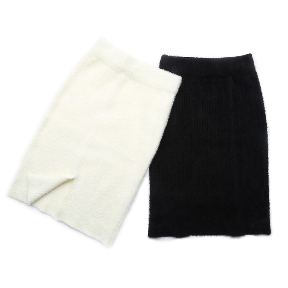 46ef0b1e9c Mujeres Blanco Señoras Saias Mujer Falda Cintura Gtgyff Caliente Faldas  Negro Peludo blanco Alta Punto Desgaste ...