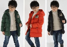 4-12Y Big Boys Coats and Jackets For Spring Winter Cotton Padded Warmer Children Outerwear Thicken collar Hooded Coats