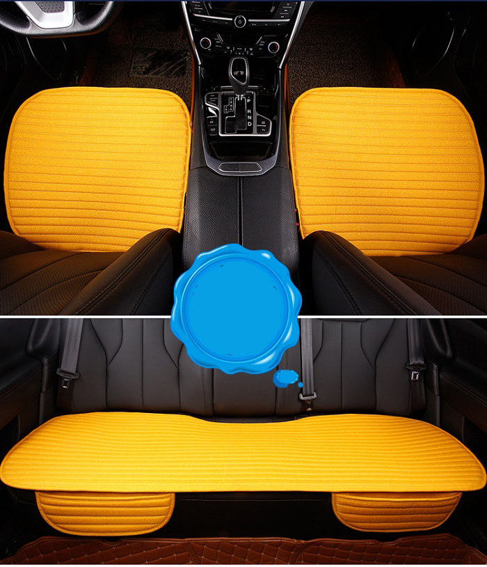 Car front/back Seat Covers artifical linen strip design Universal Fit SUV sedans Chair Pad Cushion antiskid 3