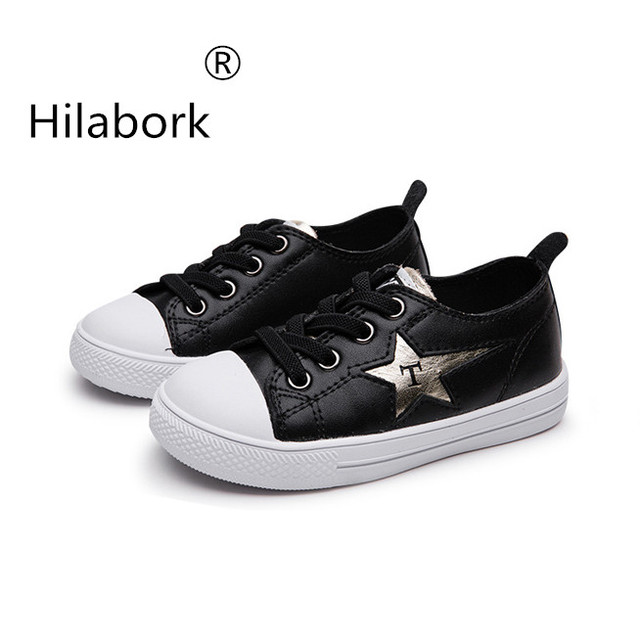 3ee378b76eb6c Hilabork autumn children's leather casual shoes elastic belt sports shoes new  balance 2019 zapatillas kids leather sneakers