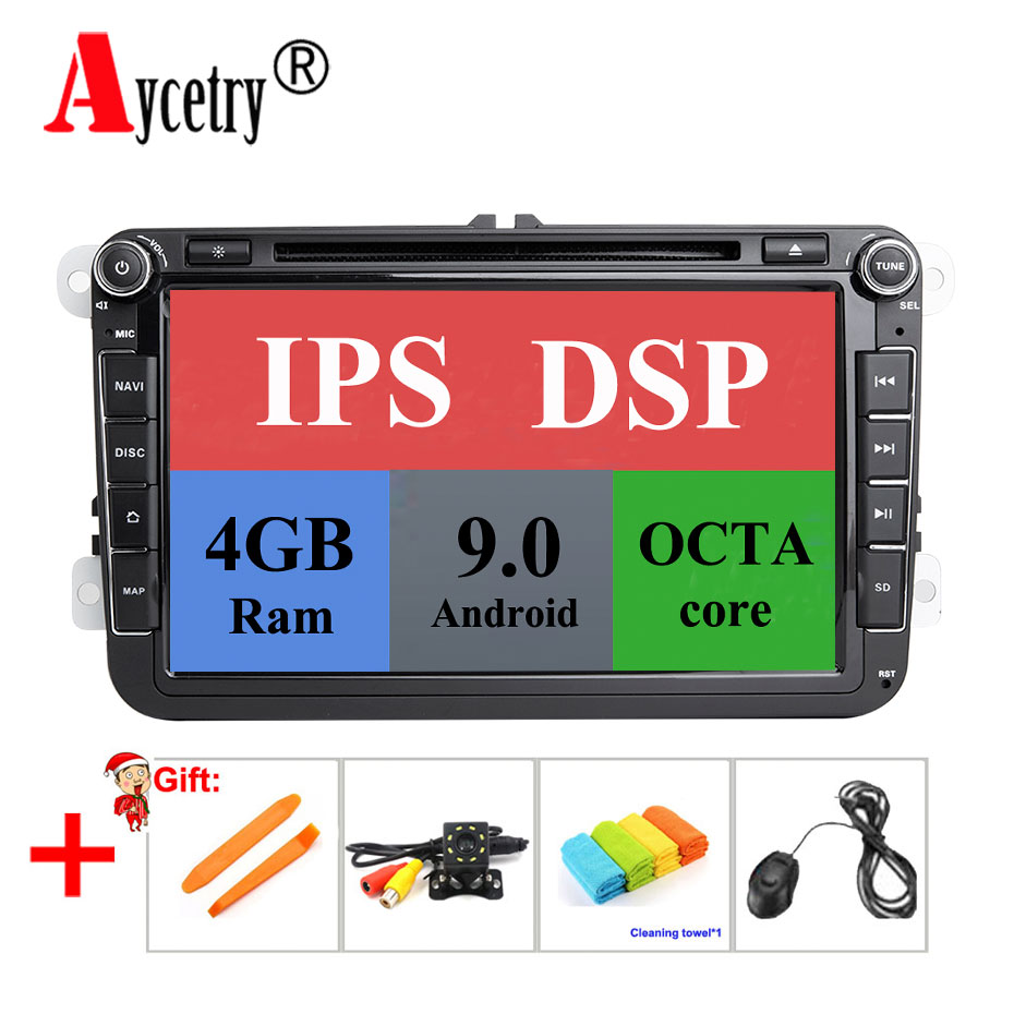 DSP IPS 8 Core 4G RAM 2 din Android 9 Car radio dvd Player GPS for