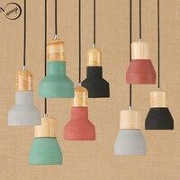 Винтажная красочная подвесная Подвесная лампа для цемента 220В E27 Светодиодная лампа с переключателем осветительная арматура для ресторана ...