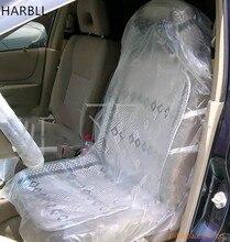 HARBLL 10pcs Disposable car seat cover car seat cover PE plastic car seat cover 4S shop