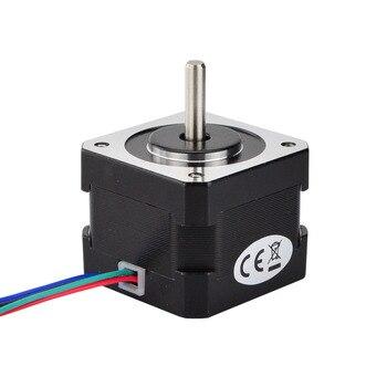 4-lood Nema17 Stappenmotor 34mm 26Ncm (36.8oz.in) 42 Motor 12 V 0.4A Nema 17 Stepper 42 BYGH 1 m Kabel voor 3D printer Motor CNC XYZ