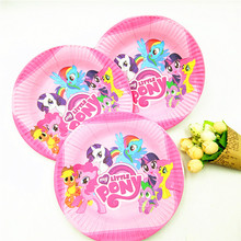 10pcs/set 7inch My Little Pony Plate Children Party Supplies Theme Kids Funny Hot Birthday Party Decoration My Little Pony