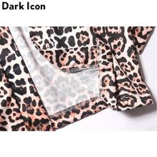Leopard Full Printed Open Stitch Kimono Jacket Men Three Quater Sleeve Thin Style Summer Beach Jackets Sun Proof Jackets