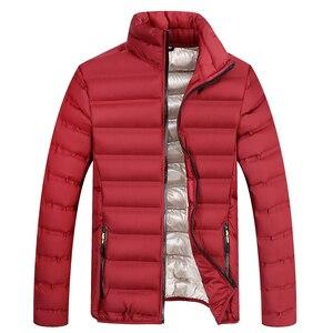 Image 2 - YIHUAHOO Winter Jacket Men Lightweight Windproof Casual Warm Park Jacket Winter Coat Cotton Padded Windbreaker Jacket Men JA1611