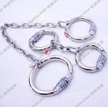 Секс Инструменты для продажи 2 предмета/партия пароль наручники Legcuffs секс-игрушки БДСМ ограничивающая повязка Комплект секс-игрушки для взрослых для обувь для мужчин и женщин.