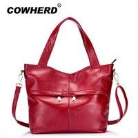 Newest Women 100 Top Layer Genuine Cow Leather Handbags Famous Shoulder Bags Ladies Designers Messenger Bag