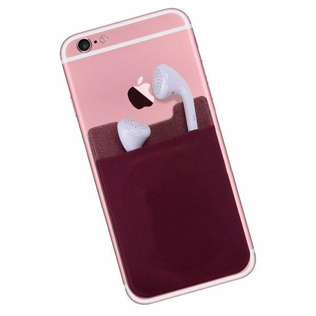 Cell Phone Card Holder >> Cell Phone Wallet Case Credit Id Card Holder Pocket Elastic Lycra