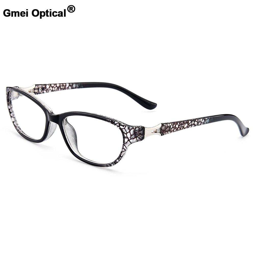 Gmei Optical Women's Stylish Ultralight TR90 Full Rim Optical Eyeglasses Frames With Print Design Girl's Pretty Frame M13122