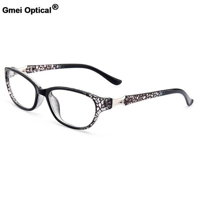 2d5a49317b Gmei Optical Women s Stylish Urltra-Light TR90 Full Rim Optical Eyeglasses  Frames With Print Design Girl s Pretty Frame M13122