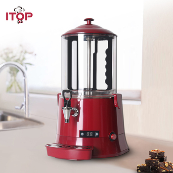 ITOP 110V 220V Hot Chocolate Dispenser Machine ,Baine Marie Coffee Milk Tea Hot Drink Dispenser For Snack Store Buffet hot sale commercial mini kitchen appliance table counter top 5 liter chocolate melting machine for drink dispenser