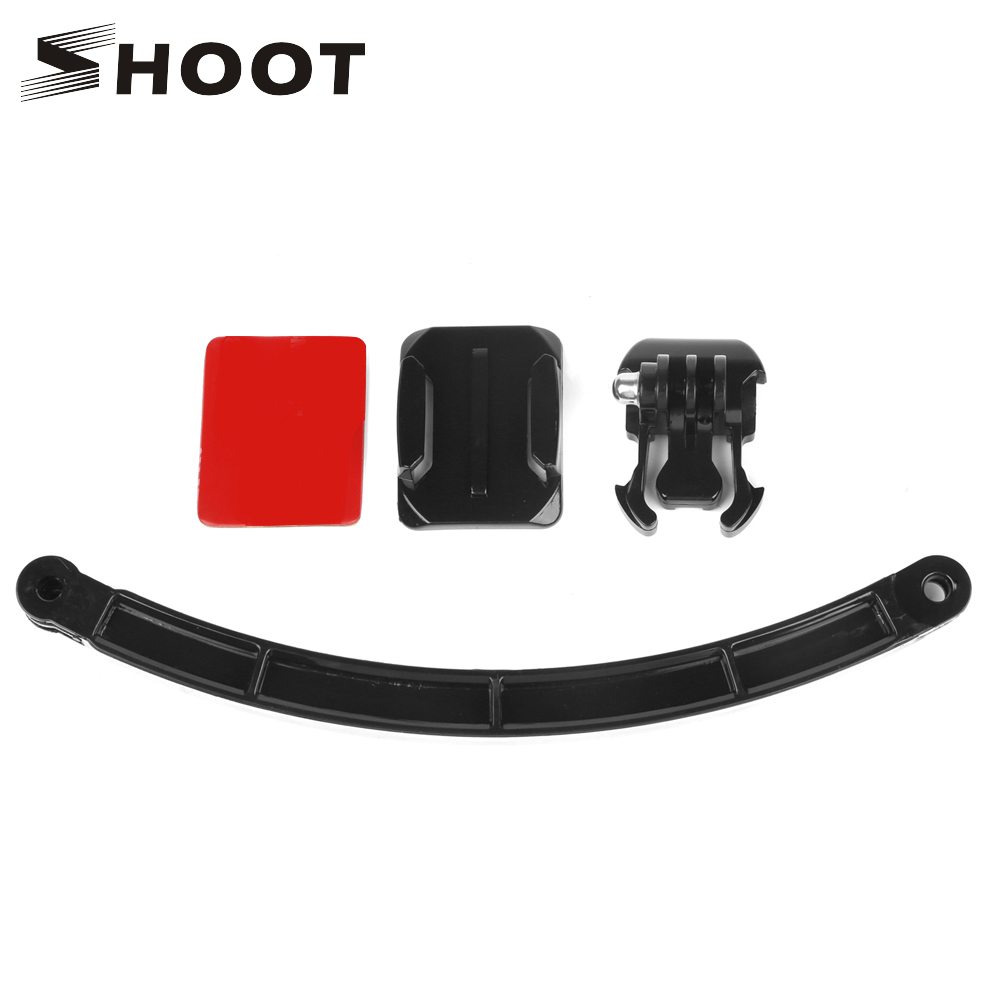 SHOOT Cycling Helmet Mount Accessories Set Selfie Arm Surface Base Sticker for Gopro Hero 6 5