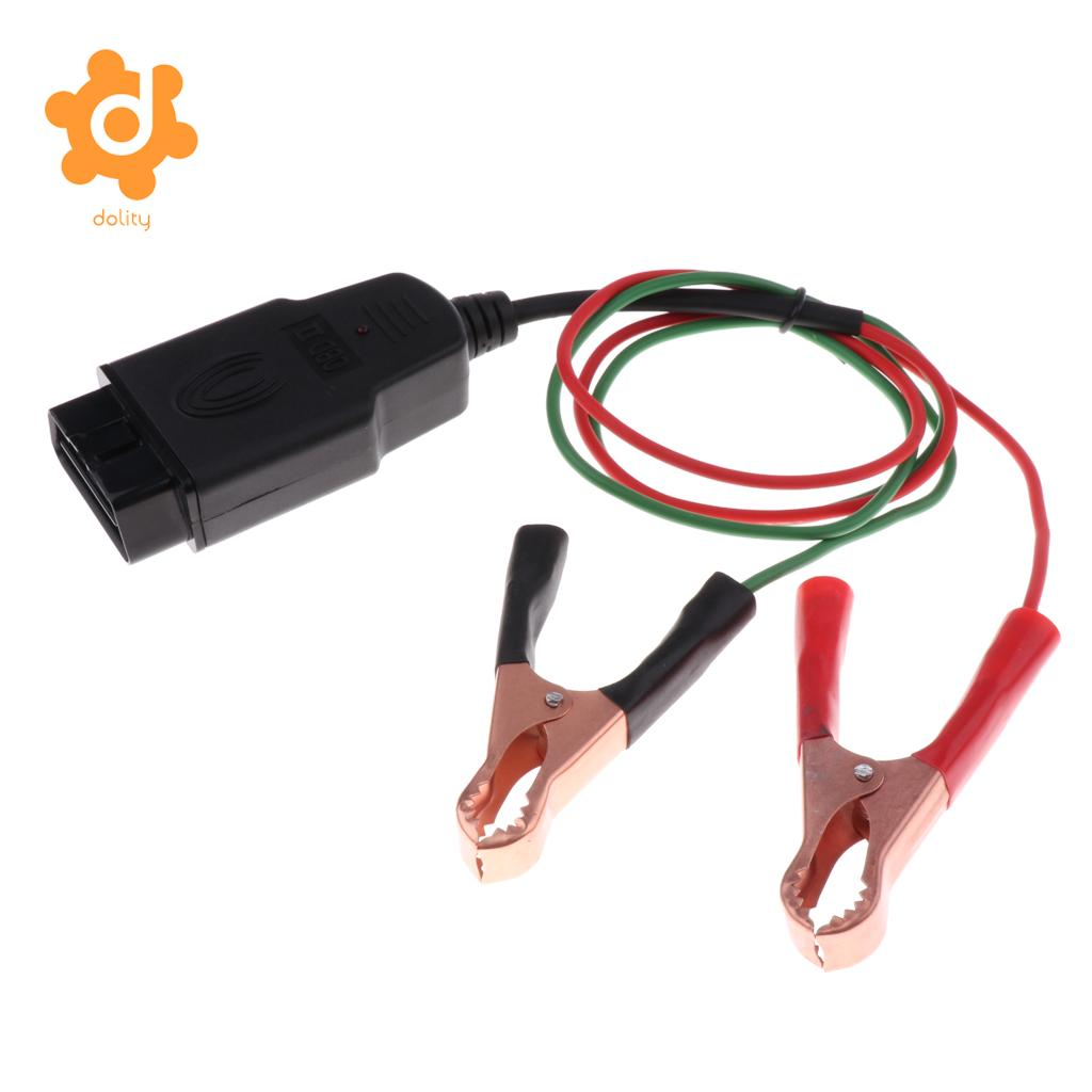 OBD2 Connector Car ECU Memory Saver Extended Cable Battery Alligator Clip