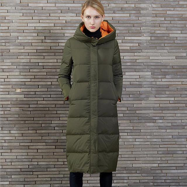 2017 new Winter Jacket Women White Duck Down Coat Warm Parka ... : quilted long down coat - Adamdwight.com
