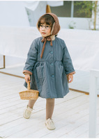 New 2019 Baby Girls Fall And Spring Clothes 2 3 4 5 6 7T Korean Foreign Trade Thick Coat Children Dress Baby Clothing