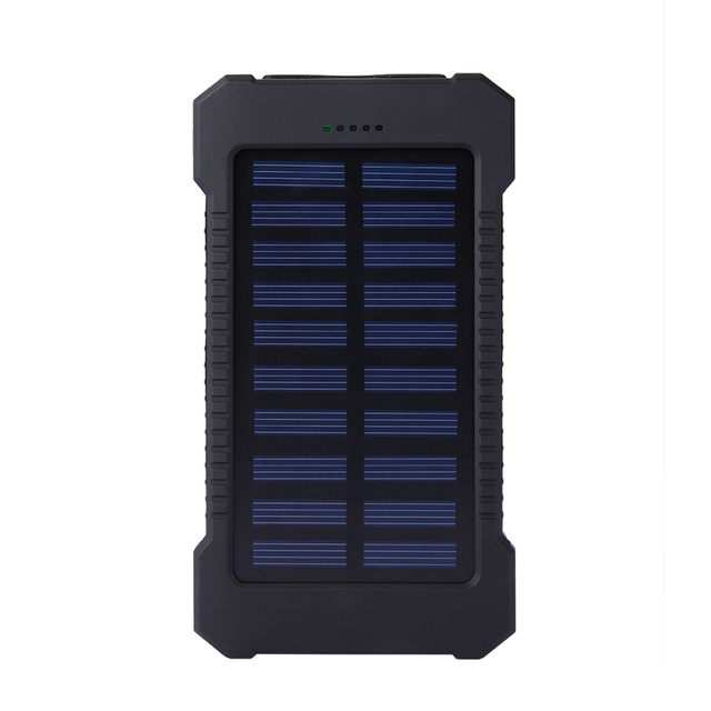 Top Sell Solar Power Bank Waterproof 20000mAh Solar Charger 2 USB Ports External Battery Charger Phone Poverbank with LED Light 2