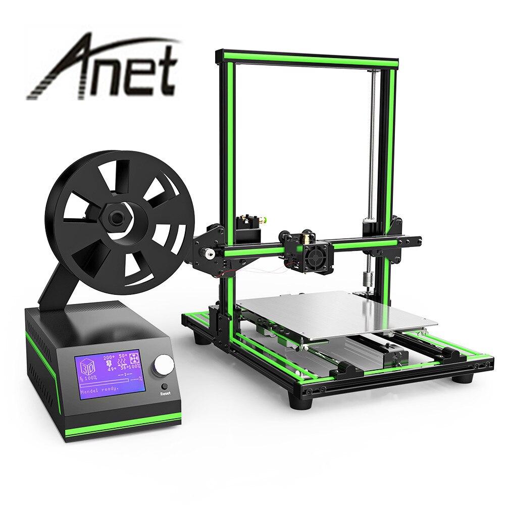 Original Anet E10 3D imprimante kit cadre en aluminium multi-langue 3D imprimante bricolage ensemble LCD écran 3D bureau Machine d'impression