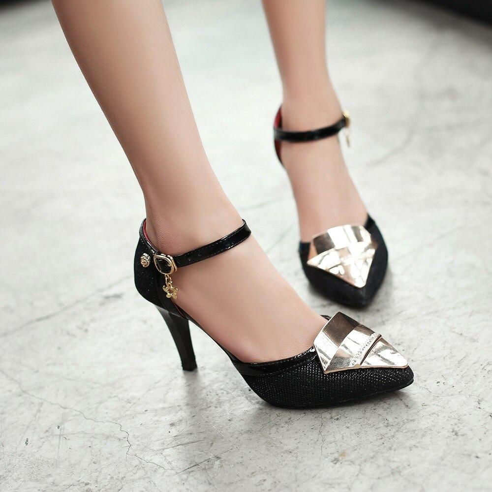 New fashion women summer sandals 2016 silver gold high ...