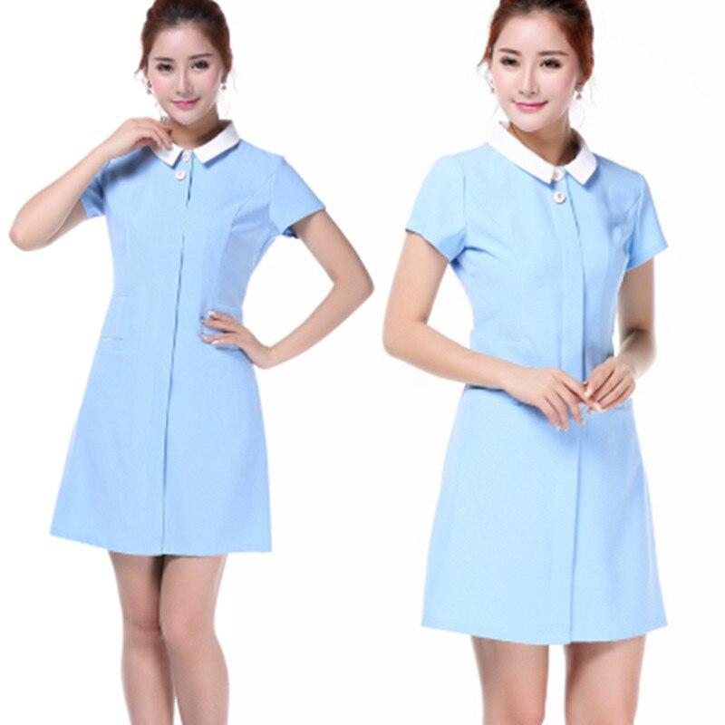 2017 New style Work Wear Uniforms Clothes Beautician Overalls Beauty Salon Work Clothes Nurse Uniform Pharmacy Work Clothes