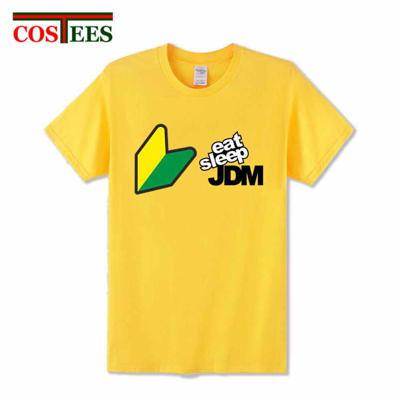 Cool design Printed Men JDM T-shirt Clothing Pre-cotton Short Sleeve JDM EAT SLEEP T shirts Man Boy JDM Tees T Shirt simple Tops(China)