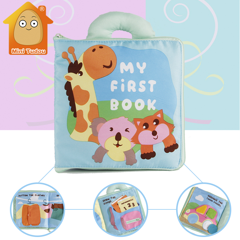 Soft Books Infant Early Cognitive Development My Quiet Books Baby Goodnight Educational Unfolding Cloth Book Activity Book