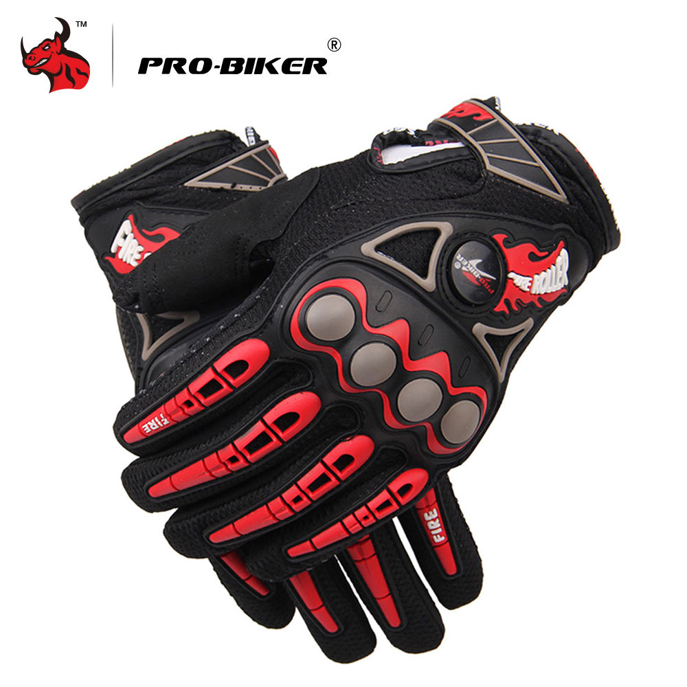 PRO-BIKER Motorcycle Gloves Luvas Da Motocicleta Motorcycle Racing Gloves Motocross Off-Road Enduro Full Finger Moto Gloves pro biker motorcycle riding gloves breathable motocross off road racing moto full finger gloves with stainlesssteel injection