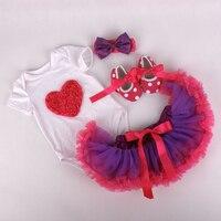Zero MC 13 Kids Newborn Baby Girl Clothing Set Infant Christmas Clothes Bodysuit Shoes Skirtr