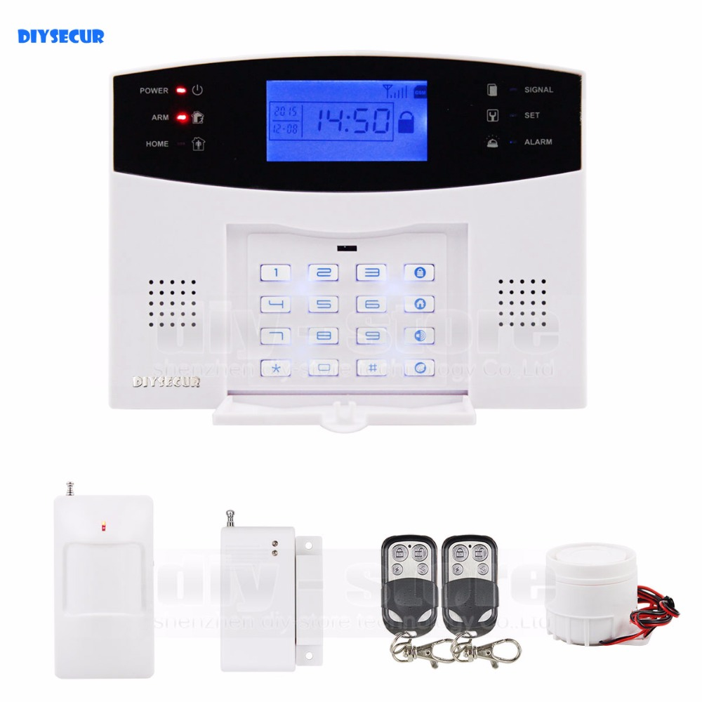 DIYSECUR 433MHz Wireless Home Gsm Sms Call Burglar Alarm System For Garage Storage Home Garden