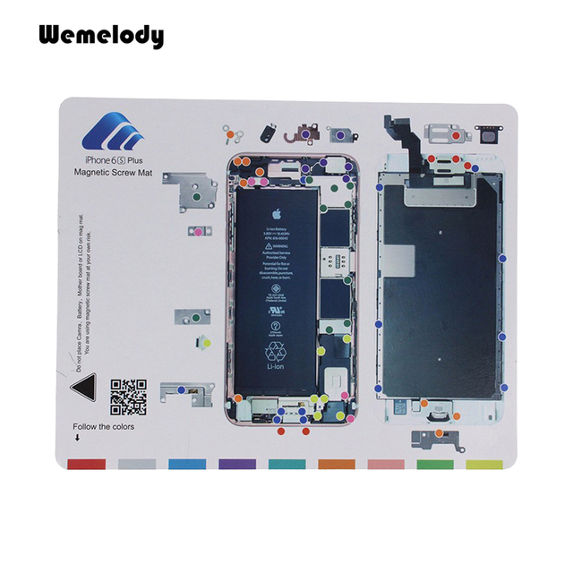 Iphone 4 Screw Layout Diagram Freightliner Jake Brake Wiring New Magnetic Mat Repair Cell Phone Tool Keeper Chart Guide Pad For Apple 6s Plus 5 Mobile Repairing
