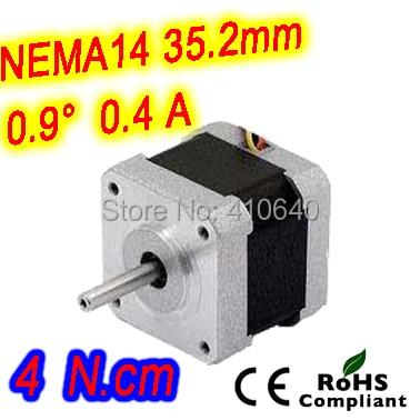 10 pieces per set FREE SHIPPING stepper motor 14HM08-0404S Nema14 with 0.9 deg 0.4 A  4 N.cm with bipolar and 4 lead wires герметик вго 1 ту 38303 0404 90