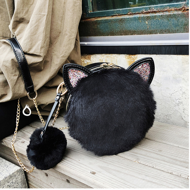 Sequin Cat Ear Shoulder Bag