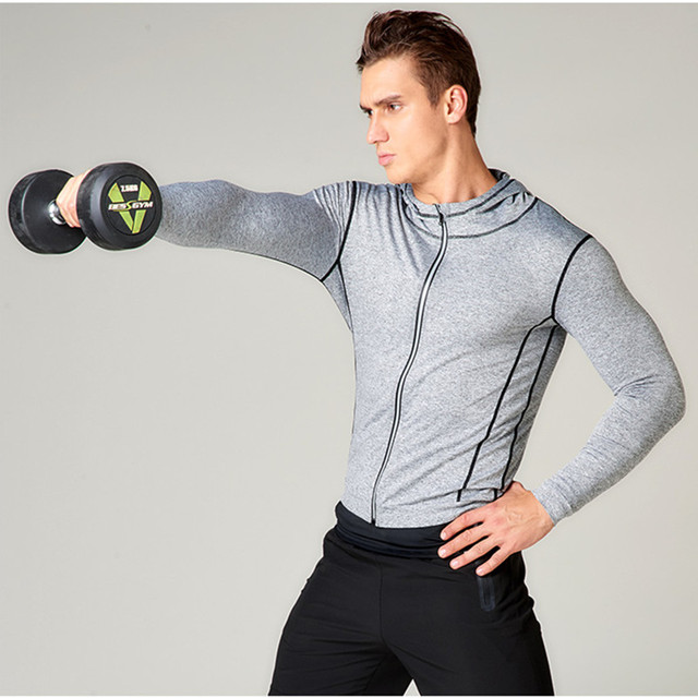 Men's Hooded Jacket for Jogging and Workout
