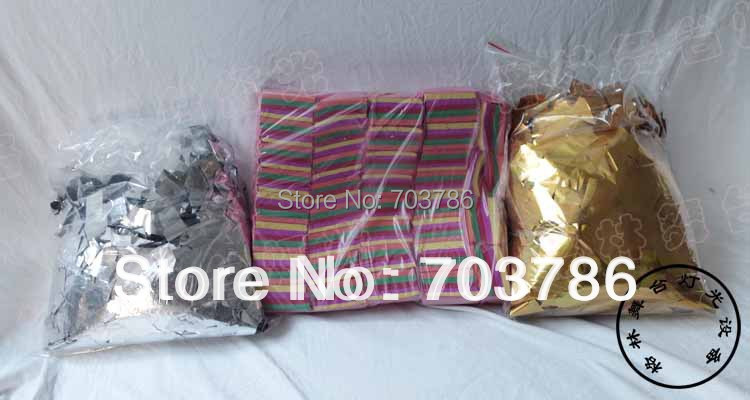 1KG/Bag Confetti Machine Paper Silver Paper For Rainbow Machine Stage Light Work Well ALL confetti machine and confetti cannon