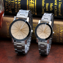 2pcs Lovers Watches For Men Women Quartz Watch Stainless Steel Couple Clock Bracelet Lover Wristwatches Women's Dress Gift